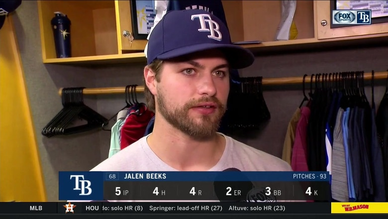 Jalen Beeks recaps his start after 7-4 loss to Seattle