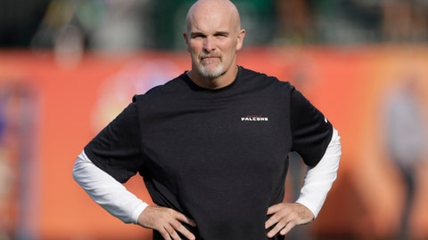 <p>               FILE - In this Aug. 1, 2019, file photo, Atlanta Falcons head coach Dan Quinn watches before the Pro Football Hall of Fame NFL preseason game between the Falcons and the Denver Broncos in Canton, Ohio. Quinn has gone back to his past to protect his future with the Atlanta Falcons. Quinn fired his three coordinators following a disappointing 7-9 finish in 2018. He appointed himself as the new defensive coordinator, the role he held in Seattle before being hired by Atlanta in 2015. (AP Photo/Ron Schwane, File)             </p>