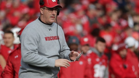 """<p>               FILE - In this Nov. 3, 2018, file photo, Wisconsin coach Paul Chryst watches the first half of the team's NCAA college football game against Rutgers in Madison, Wis. Wisconsin won eight games a season ago, its fewest since 2012 and fewest under coach Chryst. """"You hope it's a blip, right? And yet, that's the beauty of this season,"""" said Chryst, who is in his fifth year at the helm of the Badgers' program. (AP Photo/Morry Gash, File)             </p>"""
