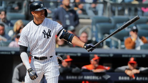 <p>               FILE - In this Saturday, March 30, 2019 file photo, New York Yankees right fielder Giancarlo Stanton waits for the pitch against the Baltimore Orioles during the fourth inning of a baseball game in New York. Giancarlo Stanton wants to return from his knee injury in time to fine-tune that powerful swing for October. Sidelined nearly all season, the New York Yankees slugger is hitting indoors and throwing as he rehabs from a sprained right knee that's been slow to heal since he got hurt June 25. (AP Photo/Julie Jacobson, File)             </p>