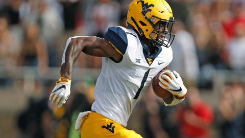 <p>               FILE - In this Sept. 29, 2018, file photo, West Virginia's T.J. Simmons runs downfield with the ball during the first half of the team's NCAA college football game against Texas Tech in Lubbock, Texas. Simmons is the top returning wide receiver on a unit that lost most of its production from last season. (AP Photo/Brad Tollefson, File)             </p>