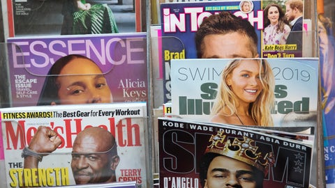 <p>               FILE - In this May 28, 2019, file photo, an issue of Sports Illustrated is displayed on a newsstand in New York. BlackRock is taking a sizeable stake in the parent of Sports Illustrated and the retail chains Nine West and Aeropostale, becoming the company's largest shareholder. Financial terms were not disclosed. The Wall Street Journal, which first reported the deal Sunday, Aug. 11, 2019, cited anonymous sources who put the investment at $875 million, valuing the entertainment and marketing company at $4 billion, including debt. Authentic Brands Group has more than 50 brands and nearly $10 billion in annual global revenue. (AP Photo/Mark Lennihan, File)             </p>