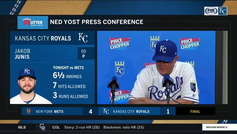 Yost on Junis: 'I thought he threw the ball extremely well'