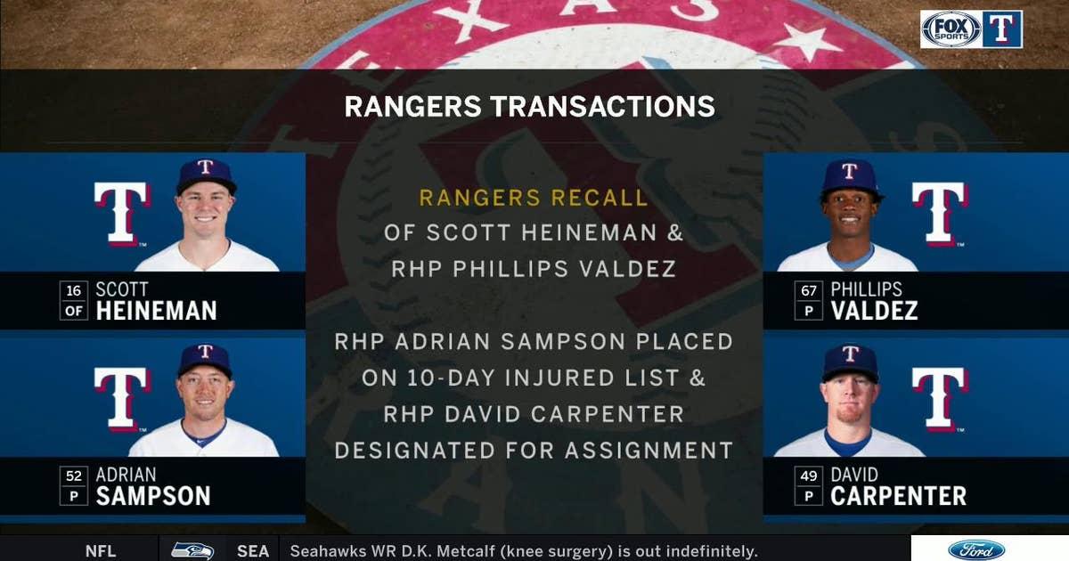 Latest Texas Rangers Transactions | Rangers Live