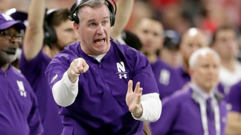 <p>               FILE - In this Dec. 1, 2018, file photo, Northwestern head coach Pat Fitzgerald directs his team from the sidelines during the second half of the Big Ten championship NCAA college football game against Ohio State in Indianapolis. It seems no one is talking about Northwestern even though it won the Big Ten West last year. The chatter surely will start if the Wildcats beat the Cardinal on the road Saturday.  (AP Photo/Michael Conroy, File)             </p>