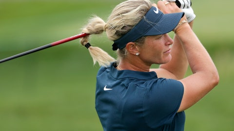<p>               FILE - In this Thursday, July 13, 2017 file photo, Suzann Pettersen, of Norway, watches her tee shot on the ninth hole during the first round of the U.S. Women's Open Golf tournament, in Bedminster, N.J.  Pettersen has been handed a Solheim Cup wild card despite having played just two events since November 2017. (AP Photo/Seth Wenig, File)             </p>