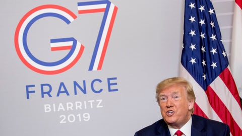 <p>               President Donald Trump speaks during a bilateral meeting with Egyptian President Abdel Fattah al-Sissi at the G-7 summit in Biarritz, France, Monday, Aug. 26, 2019. (AP Photo/Andrew Harnik)             </p>