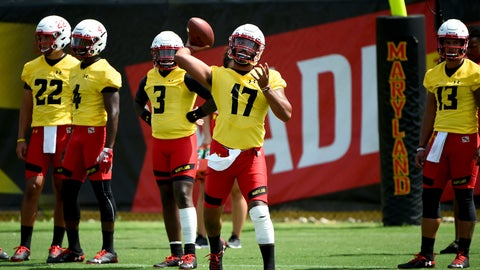 <p>               FILE - In this Aug. 2, 2019, file photo, Maryland quarterback Josh Jackson (17) works out during an NCAA college football training camp in College Park, Md. Following a miserable 2018 season, the Terrapins start anew Saturday with a home game against neighboring Howard. (AP Photo/Will Newton, File)             </p>