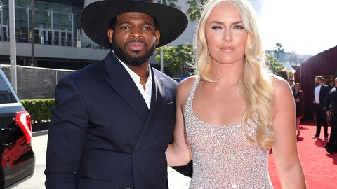 <p>               FILE - In this July 10, 2019 file photo, P. K. Subban of the New Jersey Devils, left, and Lindsey Vonn arrive at the ESPY Awards at the Microsoft Theater in Los Angeles.  Vonn and P.K. Subban  say they're engaged. Vonn, a three-time Olympic champion in Alpine skiing, and Subban, a defenseman for the NHL's New Jersey Devils who won a Winter Games hockey title with Canada, posted the good news on social media on Saturday, Aug 24. (Photo by Richard Shotwell/Invision/AP, File)             </p>