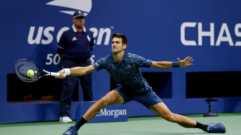 <p>               FILE - In this Sept. 9, 2018, file photo, Novak Djokovic, of Serbia, returns a shot to Juan Martin del Potro, of Argentina, during the men's final of the U.S. Open tennis tournament in New York. Djokovic is seeded No. 1 for the U.S. Open, which he won last year for the third time. (AP Photo/Adam Hunger, File)             </p>
