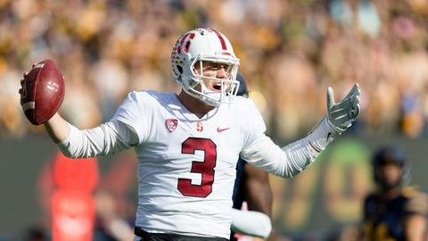 <p>               FILE - In this Dec. 1, 2018, file photo, Stanford Cardinal quarterback K.J. Costello (3) reacts against California  during a football game in Berkeley, Calif. The decision to remain in college one more season and delay entry into the NFL draft was an easy one for quarterback K.J. Costello and a beneficial one for Stanford. (AP Photo/John Hefti, File)             </p>
