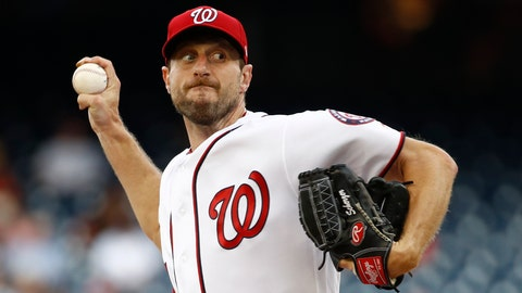 "<p>               FILE - In this July 25, 2019, file photo, Washington Nationals starting pitcher Max Scherzer throws to the Colorado Rockies during a baseball game in Washington. Three-time Cy Young Award winner Max Scherzer says he is ""ready to get in a game"" for the Washington Nationals and come off the injured list. Scherzer played catch at Nationals Park on Wednesday, Aug. 14. a day after throwing the equivalent of about two innings in a simulated game, and said he felt able to return to action from a back muscle problem. (AP Photo/Patrick Semansky, File)             </p>"