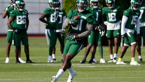 <p>               New York Jets wide receiver Quincy Enunwa participates in a practice at the NFL football team's training camp in Florham Park, N.J., Friday, July 26, 2019. (AP Photo/Seth Wenig)             </p>