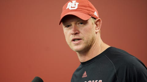 <p>               Nebraska NCAA college football head coach Scott Frost speaks during a news conference in Lincoln, Neb., Monday, Aug. 26, 2019. No. 24 Nebraska is in the preseason Top 25 for the first time since 2014, and a big reason for the positive vibe is Adrian Martinez, who last season was the most productive freshman quarterback in the nation. (AP Photo/Nati Harnik)             </p>