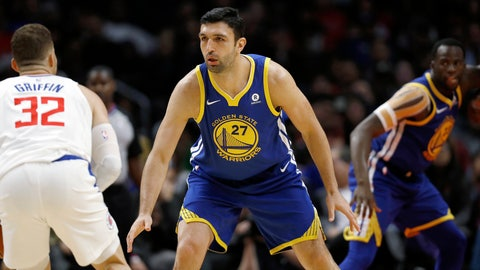 <p>               FILE - In this Oct. 30, 2017, file photo, Golden State Warriors center Zaza Pachulia defends Los Angeles Clippers' Blake Griffin during the second half of an NBA basketball game in Los Angeles. Pachulia has re-joined the Warriors, no longer as a player but now working as a consultant. The team announced Pachulia's hiring Thursday, Aug. 29, 2019, along with naming Steve Kerr's entire coaching staff and the promotion of ex-forward Mike Dunleavy Jr. to assistant general manager. (AP Photo/Ryan Kang, File)             </p>