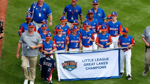 <p>               FILE - In this Thursday, Aug. 15, 2019, file photo, the Great Lakes Region Champion Little League team from Bowling Green, Ky., carries the jersey of a friend and teammate they lost at age 10 -- Mason Goodnight, whose dad, Jef, is an assistant coach, as they participate in the opening ceremony of the 2019 Little League World Series tournament in South Williamsport, Pa. (AP Photo/Gene J. Puskar, File)             </p>