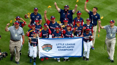<p>               FILE - In this Aug. 15, 2019, file photo, the Mid-Atlantic Region Champion Little League team from Elizabeth, N.J. participates in the opening ceremony of the 2019 Little League World Series baseball tournament in South Williamsport, Pa. With each game it plays at the Little League World Series, the Elmora Youth League team from Elizabeth, New Jersey, shares the memory of Thomas Hanratty, a state trooper who was killed during a traffic stop in 1992. (AP Photo/Gene J. Puskar, File)             </p>
