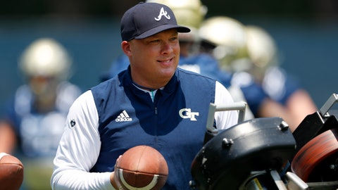 <p>               FILE - In this July 31, 2019, file photo, Georgia Tech head coach Geoff Collins works with his kick returners during the team's first preseason NCAA college football practice in Atlanta. Collins is only a few days away from the first big test for his new team, a visit to No. 1 Clemson, the defending national champion Thursday, Aug. 29, 2019. (AP Photo/John Bazemore, File)             </p>