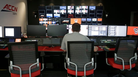 <p>               In this photo taken Tuesday, Aug. 27, 2019, Zach Gerhart, assistant director of broadcasting and video production, works in the ACC Network broadcast facility at North Carolina State in Raleigh, N.C. The Atlantic Coast Conference finally has its TV channel airing hundreds of league sporting events each year thanks in no small measure to its schools. Administrations around the ACC played a critical role in getting the channel up and running, spending millions to ensure campus broadcast and production facilities were capable of handling telecasts. (AP Photo/Gerry Broome)             </p>