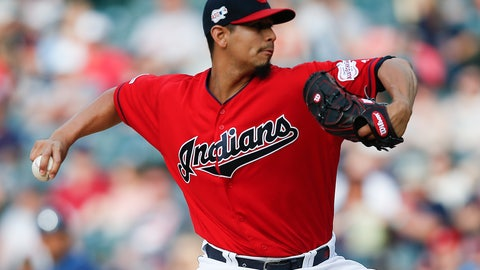 <p>               FILE - In this May 25, 2019, file photo, Cleveland Indians starting pitcher Carlos Carrasco delivers against the Tampa Bay Rays during the first inning of a baseball game in Cleveland. Indians right-hander Carrasco has returned to the mound in the minor leagues as he tries to come back after being diagnosed with leukemia. (AP Photo/Ron Schwane, File)             </p>