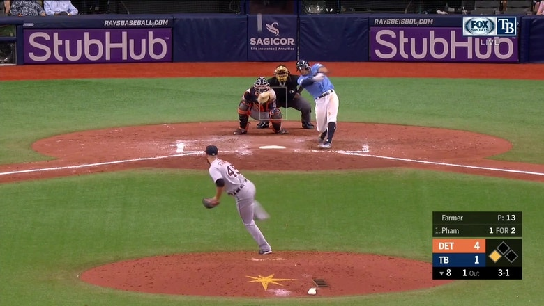 WATCH: Tommy Pham sends a 2-run blast over the wall in center