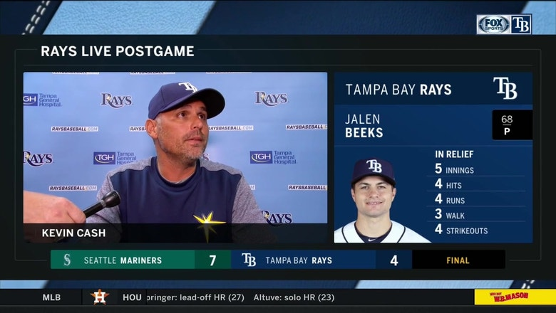 Kevin Cash breaks down Rays' pitching, 7-4 loss to Mariners