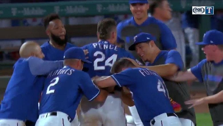 Pence Walk-Off RBI Wins it for Texas vs. LA | Rangers Live