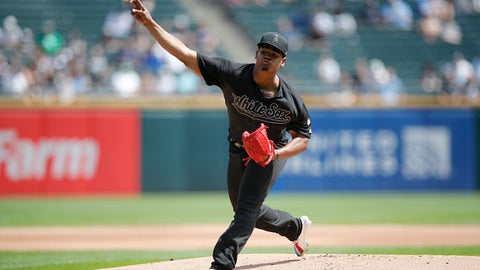 <p>               Chicago White Sox starting pitcher Reynaldo Lopez delivers during the first inning of a baseball game against the Texas Rangers Sunday, Aug. 25, 2019, in Chicago. (AP Photo/Jeff Haynes)             </p>