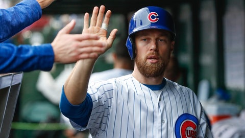 <p>               FILE - In this Friday, Sept. 28, 2018, file photo, Chicago Cubs' Ben Zobrist celebrates with teammates in a dugout after scoring against the St. Louis Cardinals during the first inning of a baseball game, in Chicago. The Chicago Cubs have activated Zobrist from the restricted list to help with their postseason push. Zobrist has been out since May 8, 2019, while going through a divorce. (AP Photo/Kamil Krzaczynski, File)             </p>