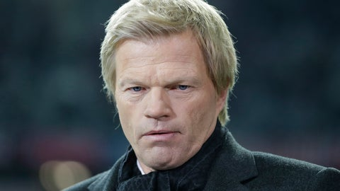 <p>               File---Picture taken Nov.7, 2012 shows former Bayern Munich goalkeeper and TV sports moderator Oliver Kahn is waiting for an interview prior to the soccer Champions League group F match between FC Bayern Munich and OSC Lille in Munich, Germany. (AP Photo/Matthias Schrader)             </p>