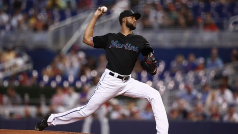 <p>               Miami Marlins starting pitcher Sandy Alcantara delivers during the first inning of a baseball game against the Atlanta Braves, Saturday, Aug. 10, 2019, in Miami. (AP Photo/Brynn Anderson)             </p>