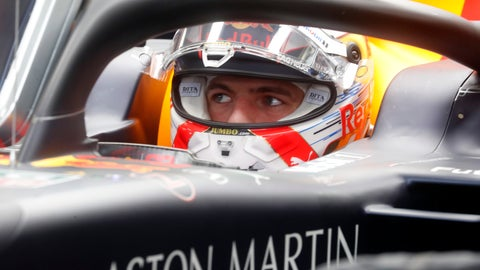 <p>               Red Bull driver Max Verstappen of the Netherland's prepares for the second practice session of the Hungarian Formula One Grand Prix at the Hungaroring racetrack in Mogyorod, northeast of Budapest, Hungary, Friday, Aug. 2, 2019. The Hungarian Formula One Grand Prix takes place on Sunday. (AP Photo/Laszlo Balogh)             </p>