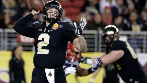 <p>               FILE - In this Dec. 27, 2017, file photo, Purdue quarterback Elijah Sindelar (2) throws against Arizona during the first half of the Foster Farms Bowl NCAA college football game in Santa Clara, Calif. For the first time in three years, Elijah Sindelar isn't battling his close friend, David Blough, for the starting quarterback job.   (AP Photo/Marcio Jose Sanchez, File)             </p>