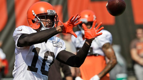 "<p>               FILE - In this July 27, 2019, file photo, Cleveland Browns wide receiver Jaelen Strong catches a pass during practice at the NFL football team's training camp facility in Berea, Ohio. Strong has been waived by the Browns. Strong posted a thank you on Twitter to Cleveland fans on Monday, Aug. 26, 2019, saying the city will ""always have a place in my heart."" The team is expected to make an official announcement Tuesday. (AP Photo/Tony Dejak)             </p>"