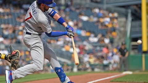 <p>               Chicago Cubs' Kris Bryant swings in the ninth inning of a baseball game against the Pittsburgh Pirates, Saturday, Aug. 17, 2019, in Pittsburgh. (AP Photo/David Dermer)             </p>