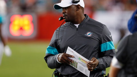 <p>               FILE - In this Aug. 16, 2019, file photo, Miami Dolphins coach Brian Flores watches during the first half of the team's NFL preseason football game against the Tampa Bay Buccaneers in Tampa, Fla. First-time head coach Flores faces a tricky task: While he tries to establish a winning culture, the season will be mostly about losing and how the Dolphins position themselves for next year's draft, when they'll likely take a quarterback in the opening round for only the second time since Dan Marino in 1983. (AP Photo/Mark LoMoglio, File)             </p>