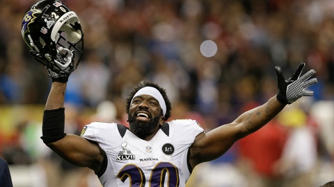 <p>               FILE - In this Feb. 3, 2013, file photo, Baltimore Ravens safety Ed Reed (20) celebrates at the end of the NFL Super Bowl XLVII football game against the San Francisco 49ers in New Orleans. The Ravens won 34-31. Reed will be inducted into the Pro Football Hall of Fame in Canton, Ohio, on Aug. 3, 2019. (AP Photo/Patrick Semansky)             </p>