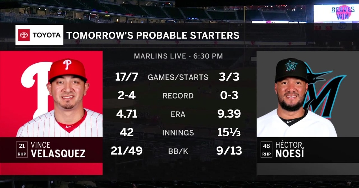 Marlins looking to bounce back at home as Phillies come to town