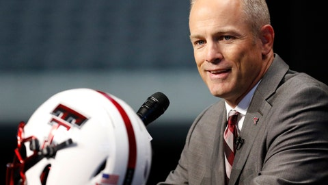 <p>               FILE - In this July 15, 2019, photo, Texas Tech head coach Matt Wells speaks on the first day of the Big 12 Conference NCAA college football media days in Arlington, Texas. New Kansas State coach Chris Klieman has seven championship rings, all at the FCS level. Texas Tech's Matt Wells is coming off a successful stretch at his alma mater in the Mountain West Conference. Their Big 12 debuts will be their first games as head coach of a Power Five team.(AP Photo/David Kent, file)             </p>