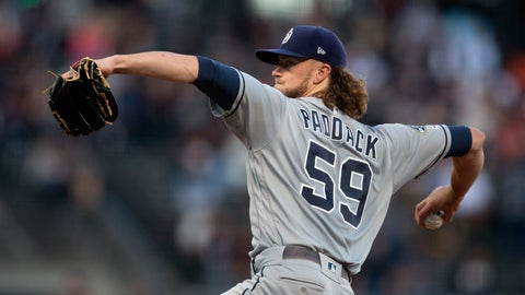 <p>               San Diego Padres starting pitcher Chris Paddock delivers against the San Francisco Giants during the second inning of a baseball game Thursday, Aug. 29, 2019, in San Francisco. (AP Photo/D. Ross Cameron)             </p>