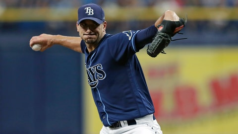 <p>               Tampa Bay Rays' Charlie Morton goes into his delivery to the Boston Red Sox during the first inning of a baseball game Wednesday, July 24, 2019, in St. Petersburg, Fla. (AP Photo/Chris O'Meara)             </p>