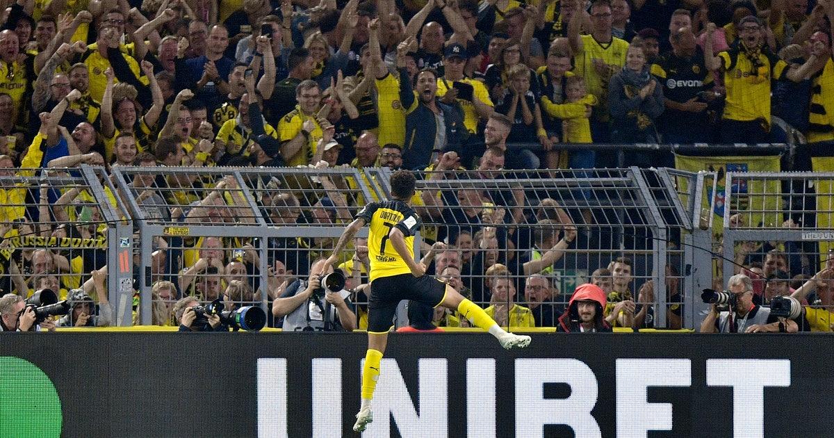 Sancho leads Dortmund to German Supercup win over Bayern   FOX Sports