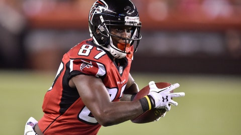 <p>               FILE - In this Aug. 18, 2016, file photo, Atlanta Falcons wide receiver Devin Fuller runs the ball in the second half of an NFL preseason football game against the Cleveland Browns in Cleveland. Fuller got his first taste of the NFL's business side during his rookie minicamp. One of the receiver's would-be teammates had a bad practice. Not much later, that player got pulled out of a meeting. Not much after that, the player was no longer Fuller's teammate. (AP Photo/David Richard, File)             </p>