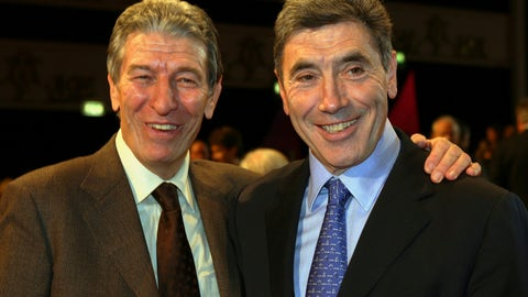 <p>               FILE - In this Saturday, Nov. 12, 2005 file photo, Former cycling World Champions Felice Gimondi, left, and Eddie Merckx, of Belgium pose for photographers before the start of the presentation of the 2006 edition of the 'Giro d' Italia' (Tour of Italy), in Milan, Italy. Gimondi died in Giardini Naxos, Sicily, southern Italy, Friday, Aug. 16, 2019, he was 76, Italian ANSA news agency said. (AP Photo/Luca Bruno, File)             </p>