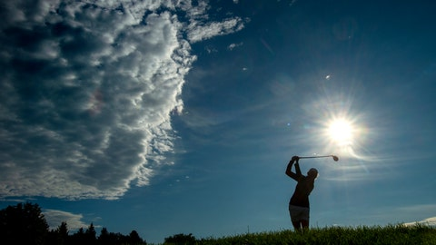 <p>               Stacy Lewis tees off on the third hole during the first round of the CP Women's Open in Aurora, Ontario, Thursday Aug. 22, 2019. (Frank Gunn/The Canadian Press via AP)             </p>