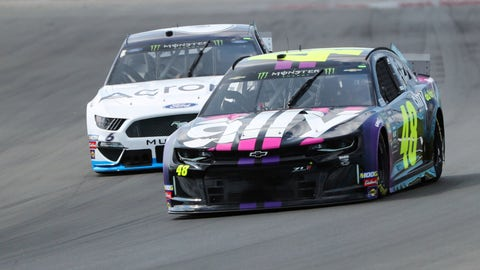 <p>               Jimmie Johnson (48) heads into Turn 1 during a practice for the NASCAR Cup Series auto race at Watkins Glen International, Saturday, Aug. 3, 2019, in Watkins Glen, N.Y. (AP Photo/John Munson)             </p>