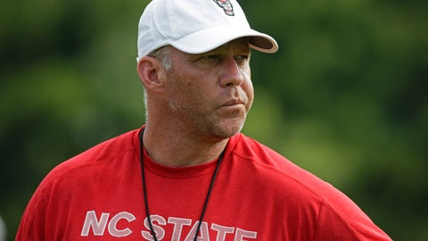 <p>               This photo taken Tuesday, Aug. 6, 2019 shows North Carolina State head coach Dave Doeren during an NCAA college football practice in Raleigh, N.C. (AP Photo/Gerry Broome)             </p>