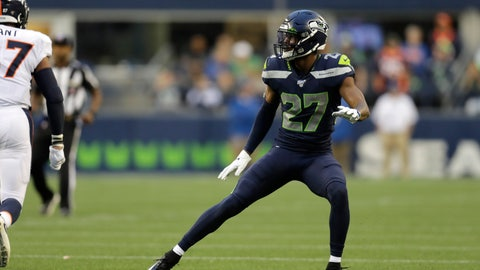 <p>               Seattle Seahawks defensive back Marquise Blair watches a Denver Broncos play develop during the first half of an NFL football preseason game Thursday, Aug. 8, 2019, in Seattle. (AP Photo/Stephen Brashear)             </p>