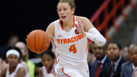 "<p>               FILE - In this Jan. 23, 2019, file photo, Syracuse's Tiana Mangakahia dribbles down court in the second quarter of an NCAA basketball game against Miami in Syracuse, N.Y. Mangakahia is halfway through treatment for breast cancer and says she often wonders ""Why me?"" One of the top women's basketball players in the country and a player who nearly elected to enter the WNBA draft, the star from Australia says the feedback from doctors has been good and she'll receive more tests Friday updating the status of her recovery. (AP Photo/Nick Lisi, File)             </p>"