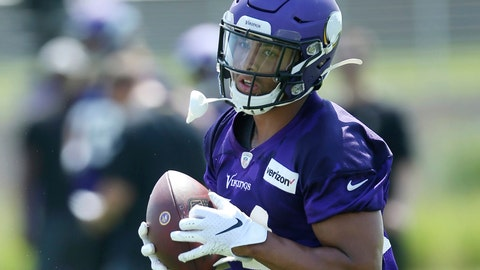 <p>               FILE - In this July 23, 2019, file photo, Minnesota Vikings tight end Irv Smith Jr. takes part in an NFL football team training camp in Eagan, Minn. The Vikings have thrust their second-round draft pick into their tight end-heavy offense, carefully evaluating Irv Smith Jr. in training camp to see what he'll be capable of handling during a rookie season that always comes with a steep learning curve.(AP Photo/Jim Mone, File)             </p>